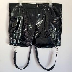 NWOT Lip Service PVC/Vinil Boy Scout Shorts